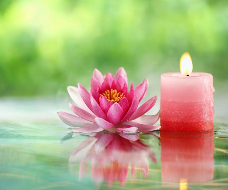 lotus-and-candle